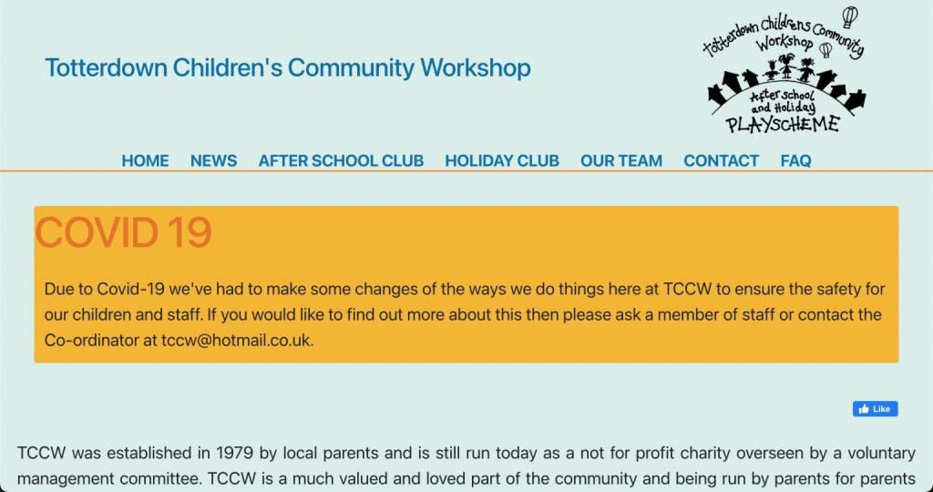 Totterdown Childrens Community Workshop screen shot